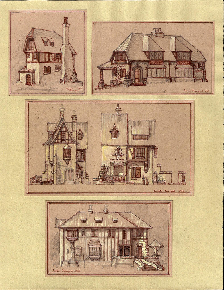 Medieval houses by built4ever on deviantart for Medieval house design