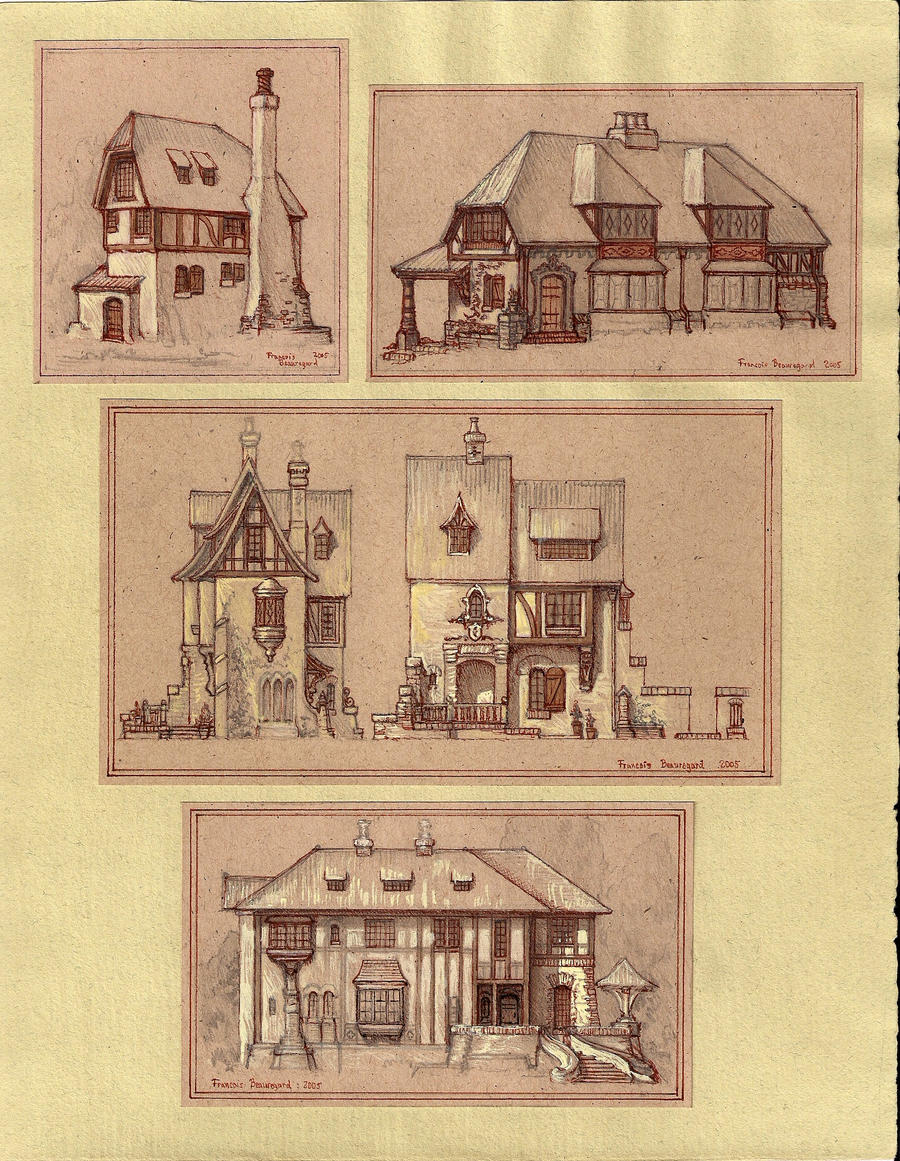 Medieval houses by built4ever on deviantart for Medieval home plans