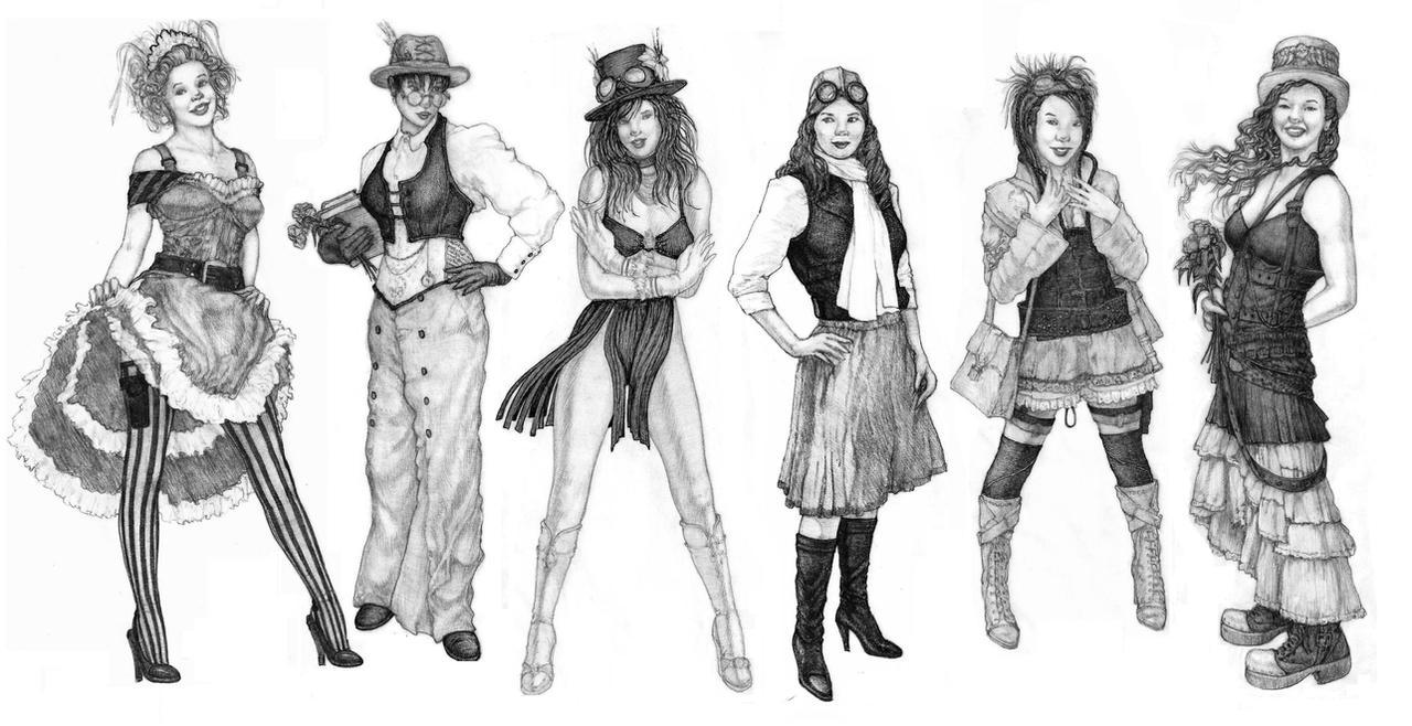 Steampunk Fashion Steampunk Fashion Studies by