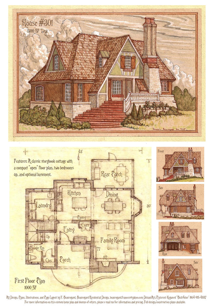 House 301 Storybook Cottage by Built4ever