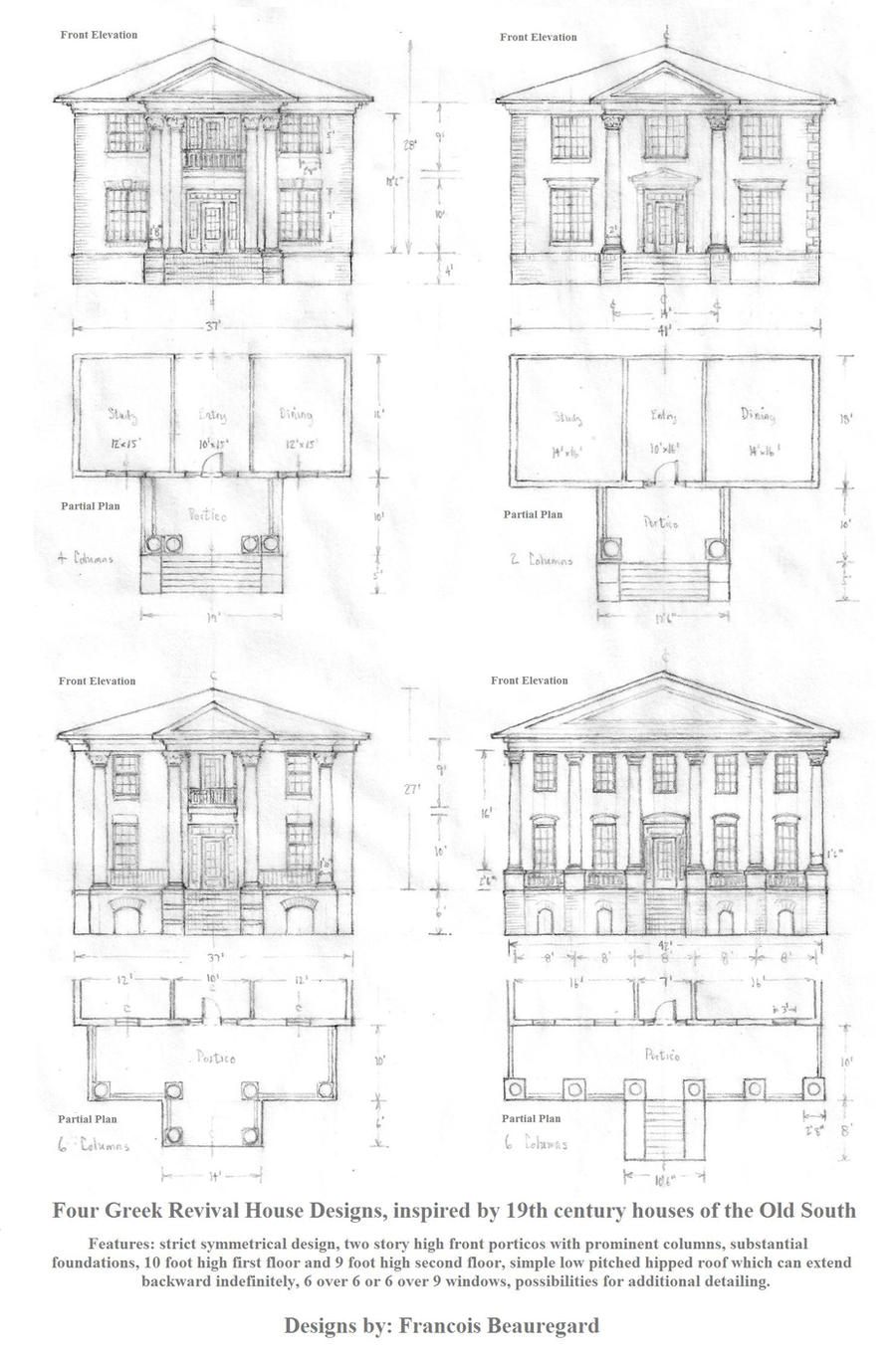 Four Greek Revival Houses by Built4ever