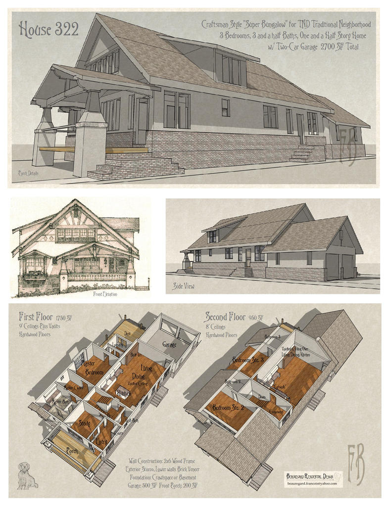 House 322 Craftsman Bungalow by Built4ever