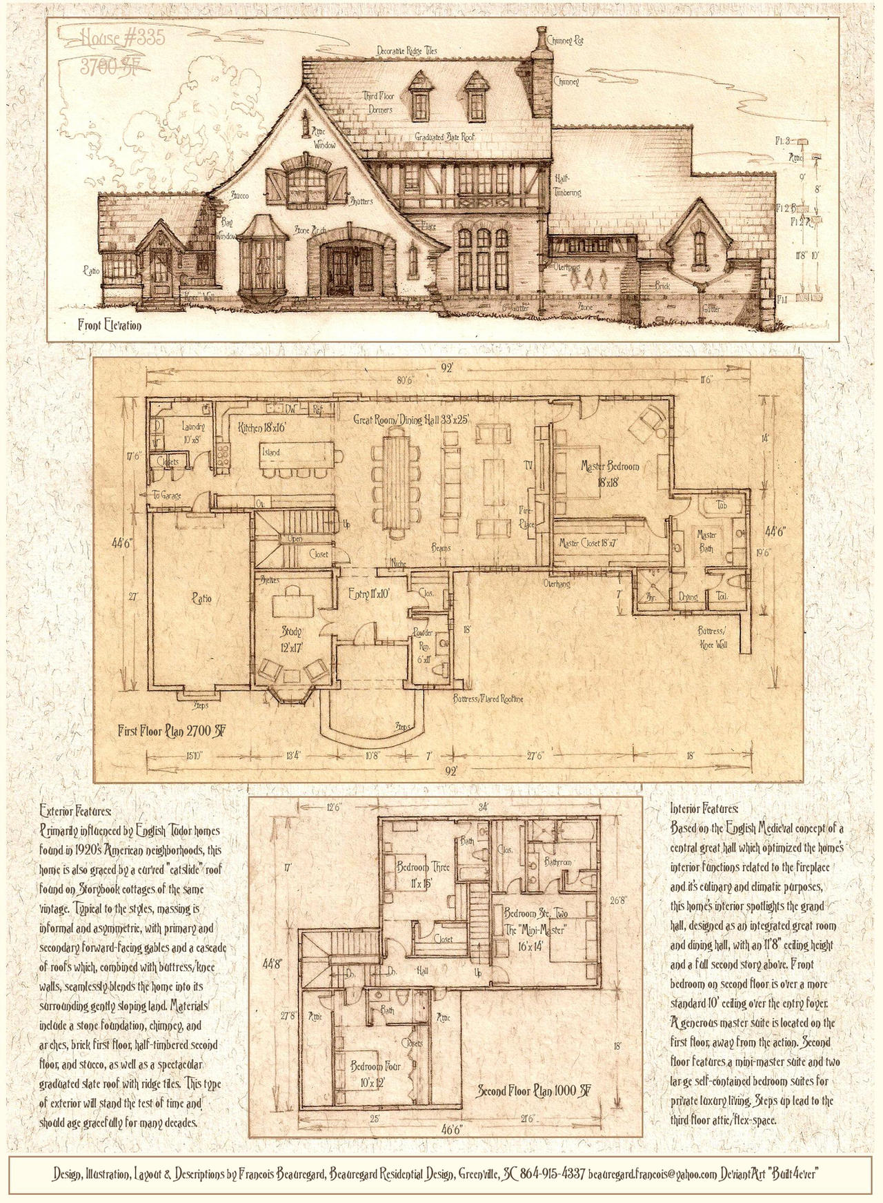 House 335 a tudor storybook luxury home by built4ever on for Storybook cottage plans