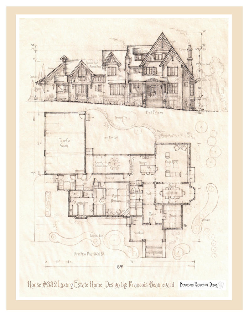 House 332 Plan by Built4ever on DeviantArt – Estate Home Floor Plans