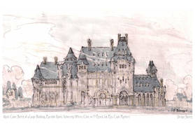 Large Building Quick Color Sketch