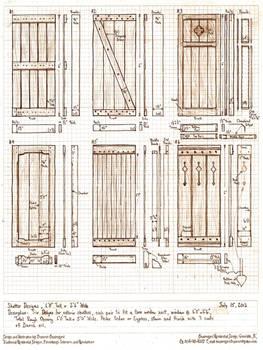 Six Exterior Shutter Designs