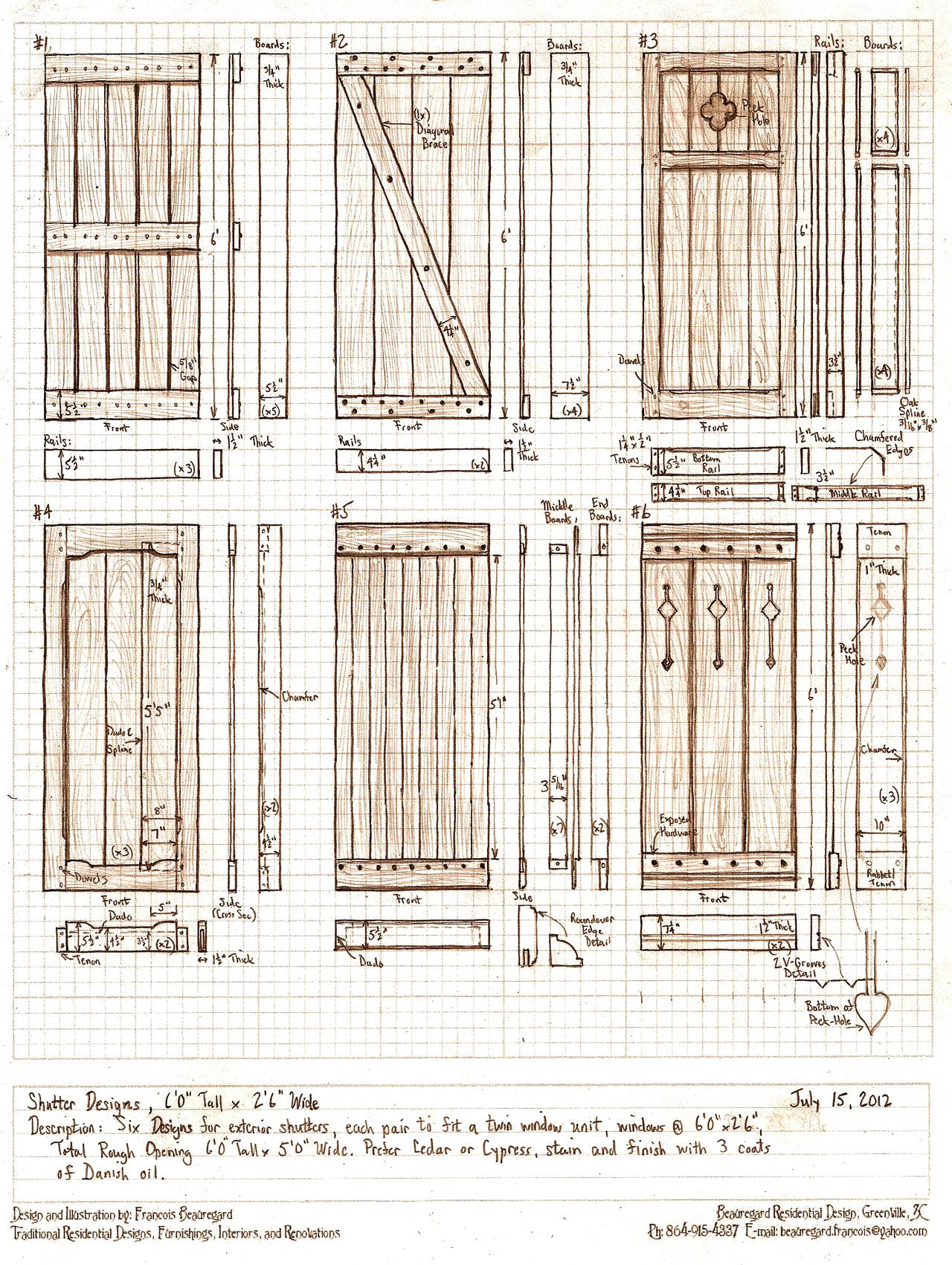 Six exterior shutter designs by built4ever on deviantart for Window design 4 6