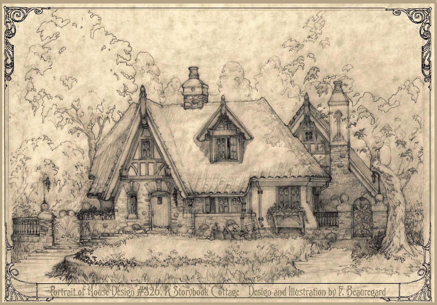 exceptional storybook cottage house plans 1 house_326_perspective_sketch_by_built4ever d5d6eqmjpg