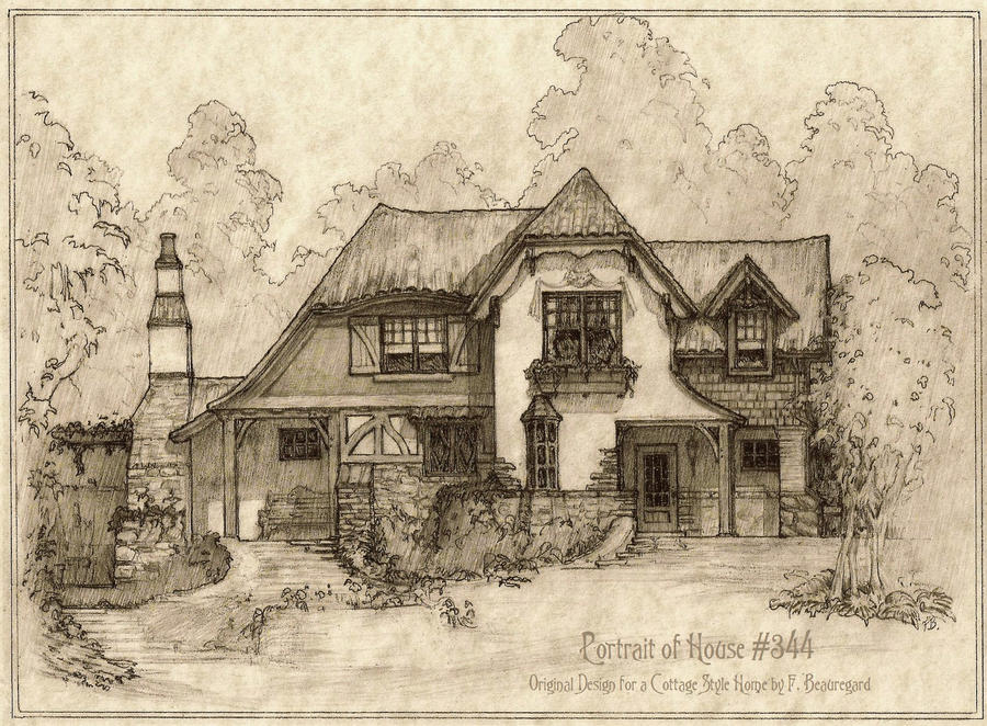 step inside this storybook cottage house plans