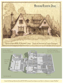 Portrait/Plan of House 345C, A Storybook Cottage