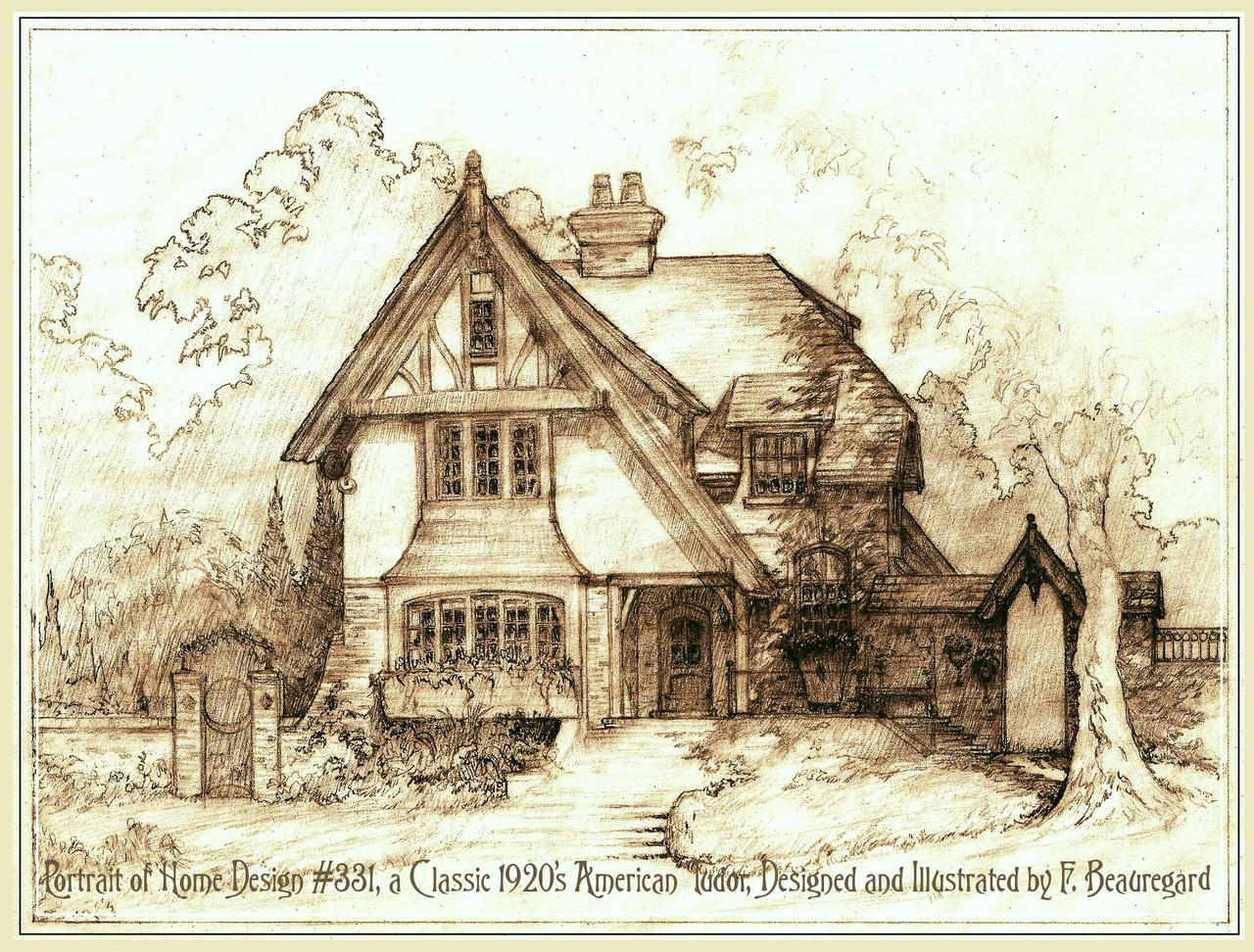 Portrait Of House 331 A Classic Tudor By Built4ever On