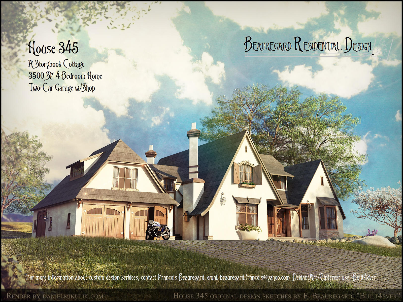 Color Portrait of House #345 by Built4ever
