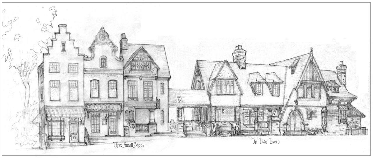 TownTavern and Three shops by Built4ever