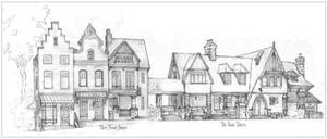 TownTavern and Three shops