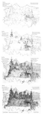 Four Step Castle Drawing Tutorial