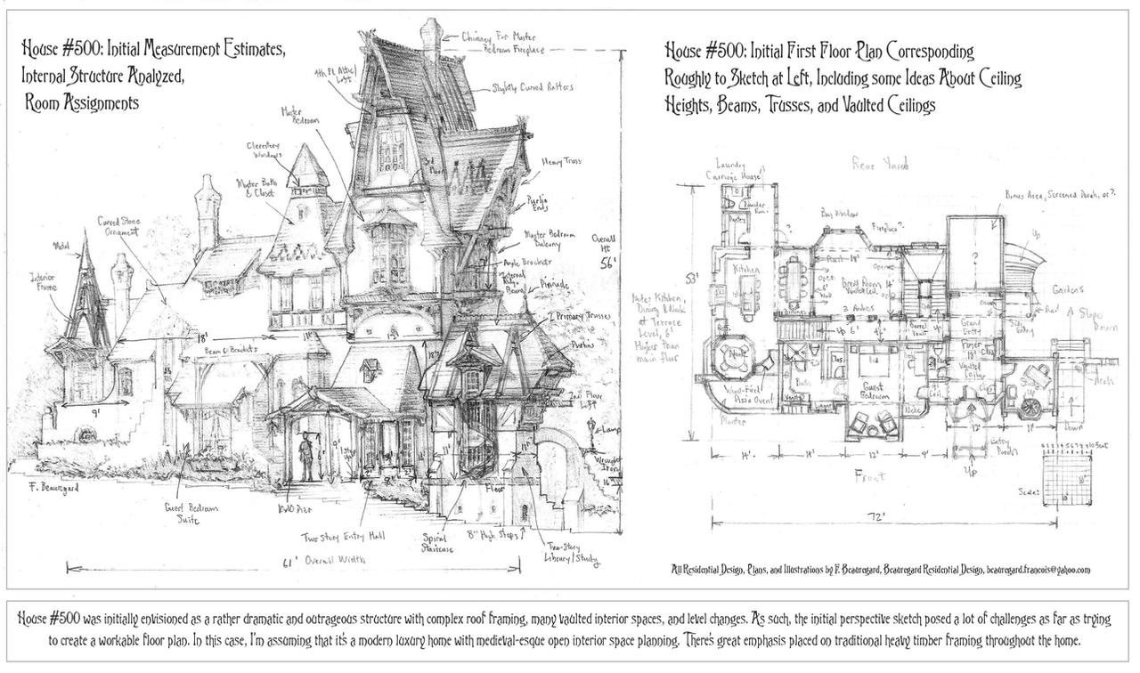 House 500 Initial Analysis to Develop Floor Plan by Built4ever on
