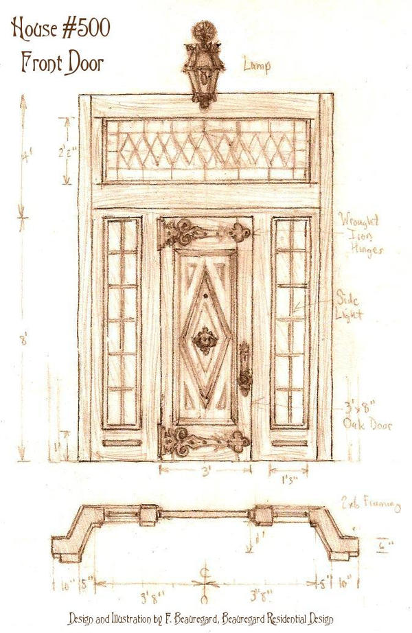 House500 Front Door Version2 by F. Beauregard by Built4ever