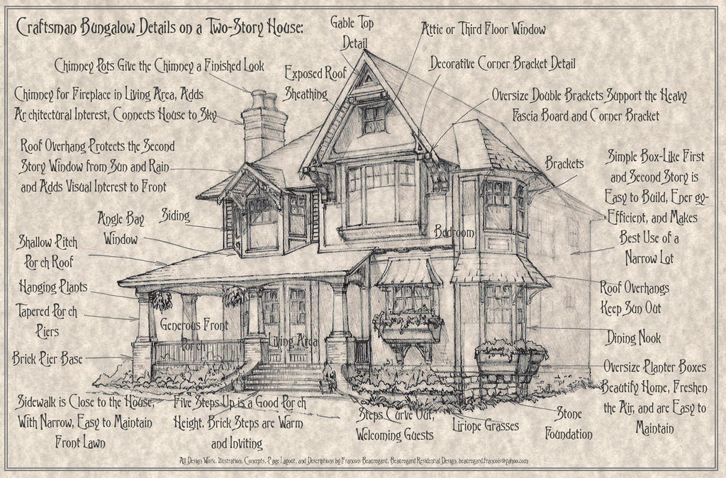 Craftsman Bungalow Details On A 2 Story House By Built4ever On Deviantart