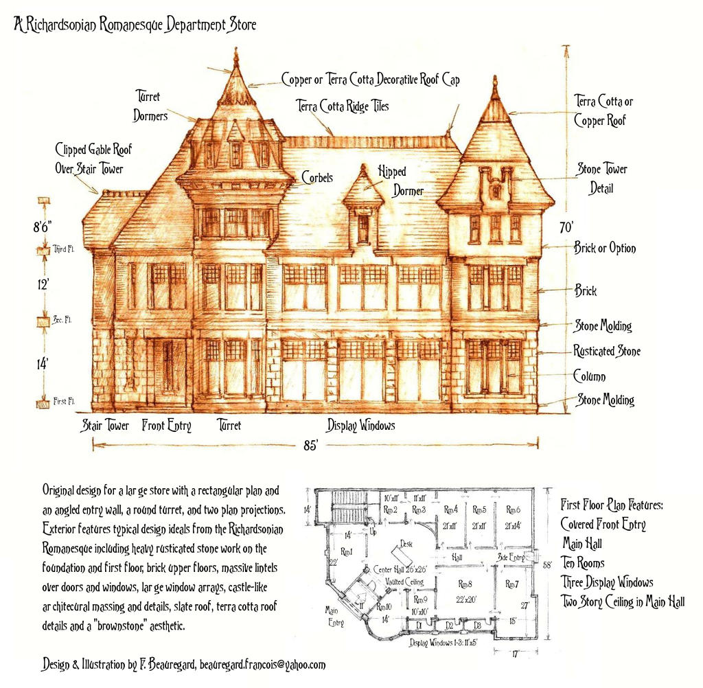 richardsonian romanesque department store by built4ever on deviantart