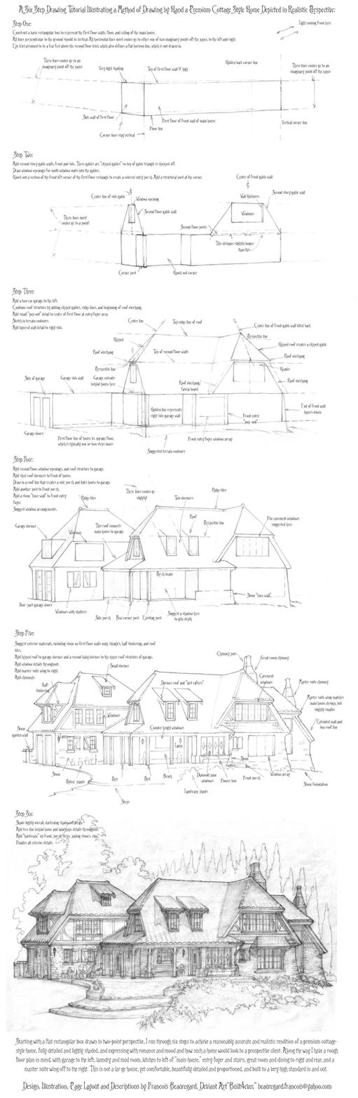 architecture design drawing techniques. Brilliant Drawing Perspective Drawing Tutorial A Cottage Home By Built4ever  Throughout Architecture Design Techniques