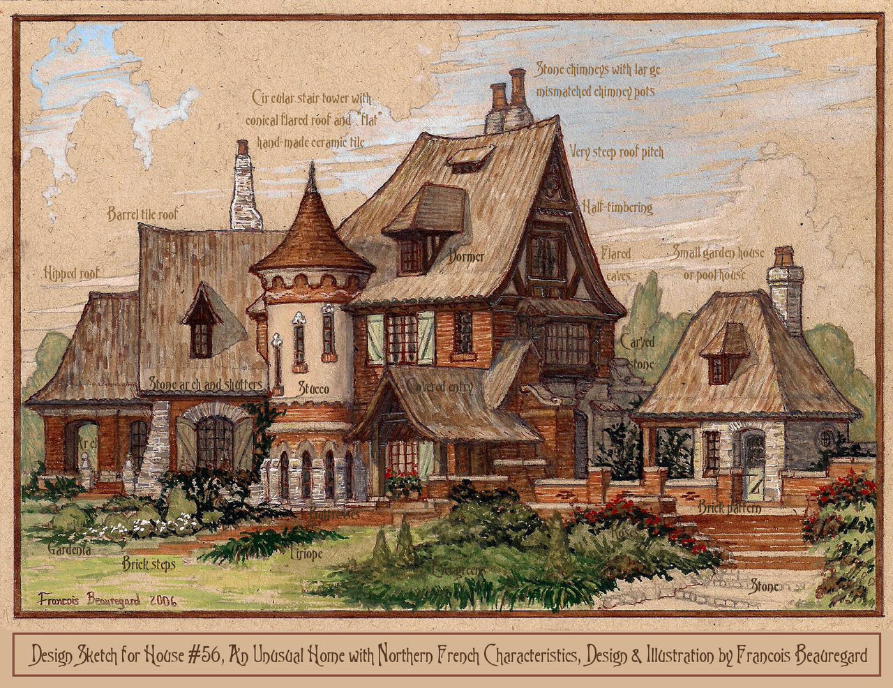 Architecture by francois beauregard favourites by for Architectural drawings of houses