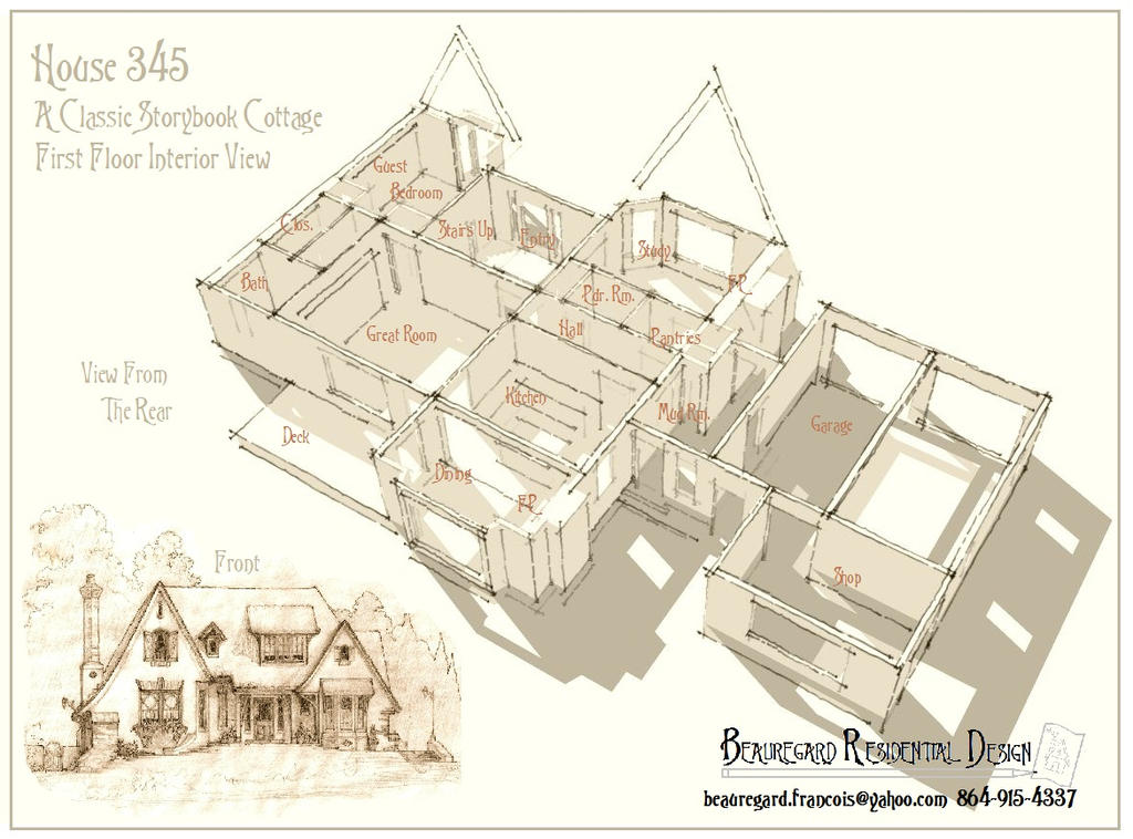 House 345 Storybook Cottage by Built4ever