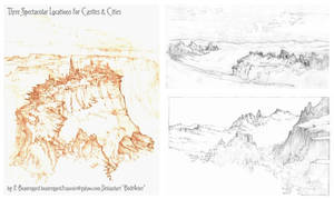 Three Spectacular Locations for a Castle or City by Built4ever