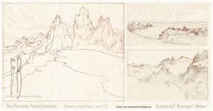 Three Fantasy Landscape Sketches