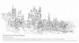 Castle Village #4, Enchanta, Detail Study