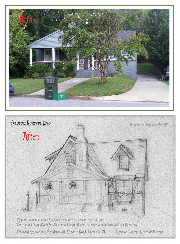 House In Greenville, Renovations, Exterior Concept by Built4ever