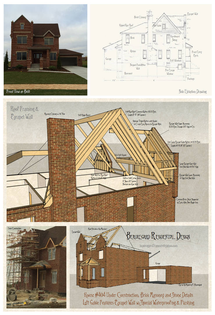 House 404 Masonry and Parapet Wall by Built4ever on DeviantArt