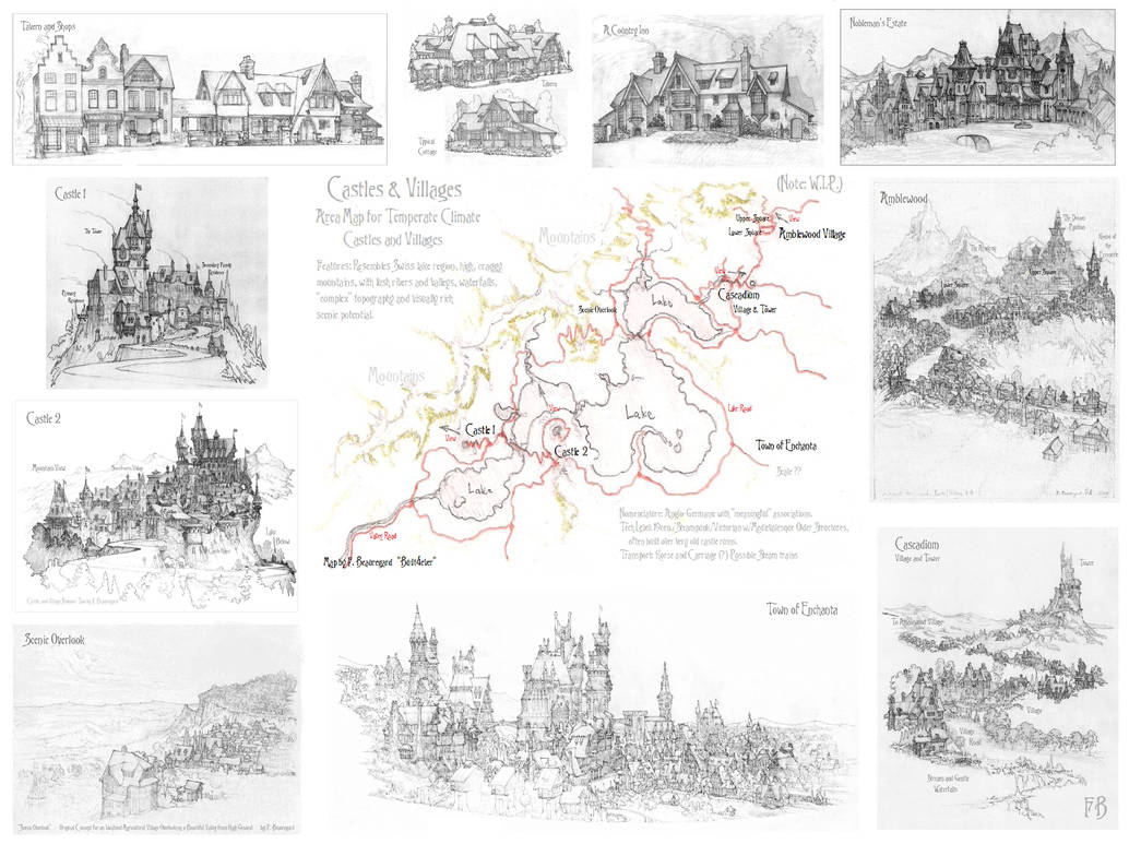 Castles and Villages Area Map
