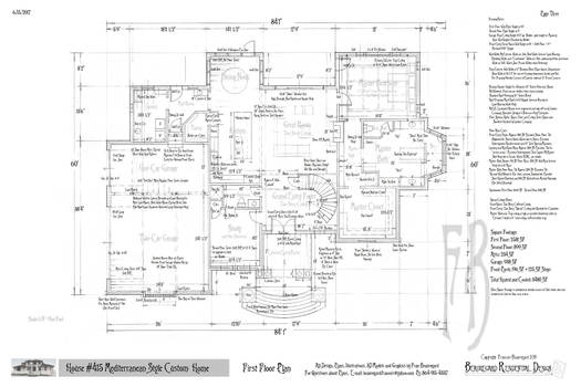 Example of a Floor Plan/Construction Document