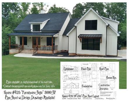 House 425 Farmhouse Plan Summary and Thumbnail
