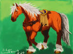 Epona (colored) by SilverSweetHeart