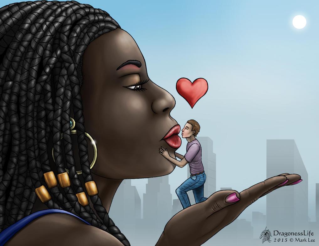 Ebony giantess love me by DragonessLife