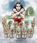 Wonder Woman Handshapes ASL