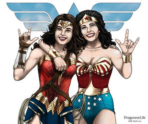 Wonder Woman Gal Gadot and Lynda Carter by DragonessLife