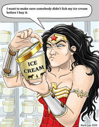Wonder Woman Ice Cream by DragonessLife