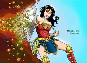 Wonder Woman fights against the Coronavirus