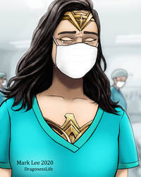 Wonder Woman hospitals fight against Coronavirus.