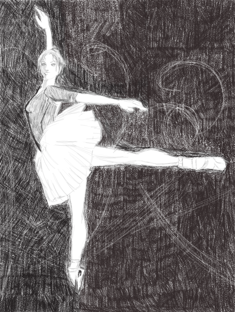 Ballet in Stipple by JessicaRaven
