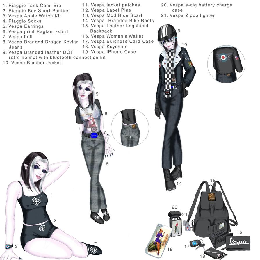 Vespa Merchandise by JessicaRaven