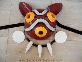 Princess Mononoke - Mask and jewels by MithriLady