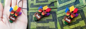 Crash Bandicoot - Aku Aku WOOD necklace