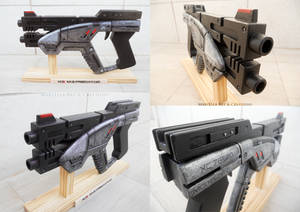 Mass Effect: M-3 Predator 1:1 wood replica