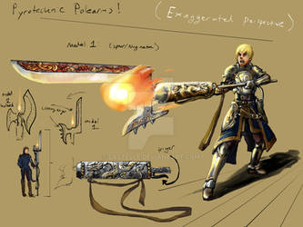 Pyrotechnec Polearms concept