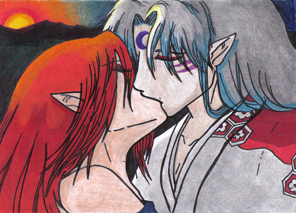 Riel and Sesshomaru by NightOfRavens