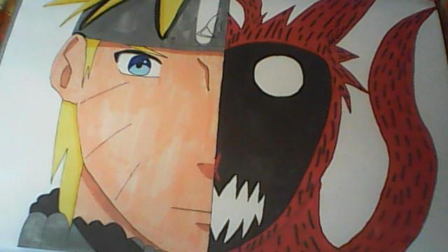 FOCLKEDS Naruto Naruto et Kyubi 30,5 x 45,7 cm