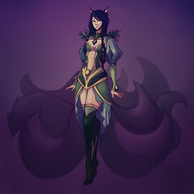 LoL: Ahri Green Theme Ver by jayoh28